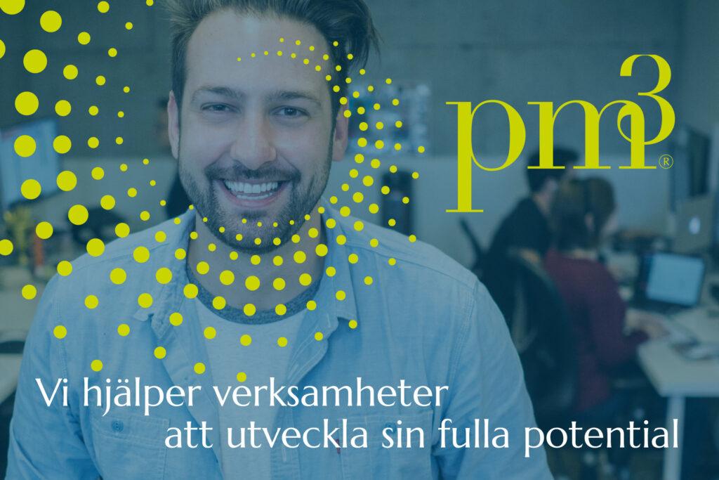 Tillsammans har vi utvecklat och förtydligat varumärket Pm3.Vi har tagit fram en ny budskapsplattform och uppdaterat identiteten. Vi har förtydligat och breddat erbjudandet och skapat ett varumärke för tillväxt.